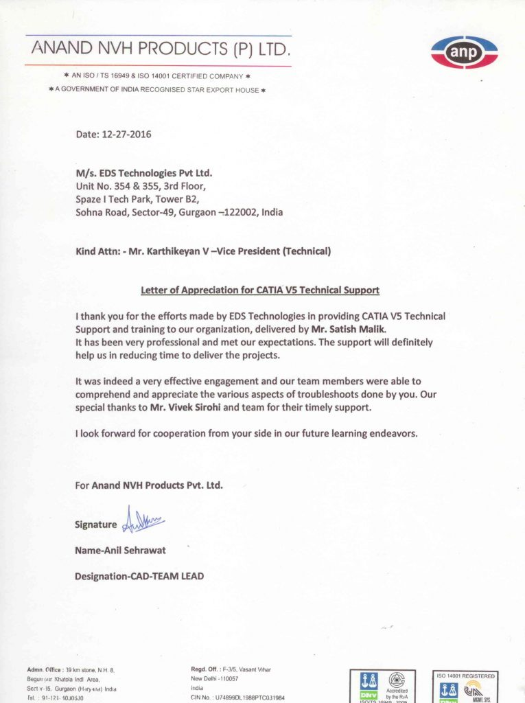 letter of appreciation appreciation letter anand nvh satish malik q3 eds 765