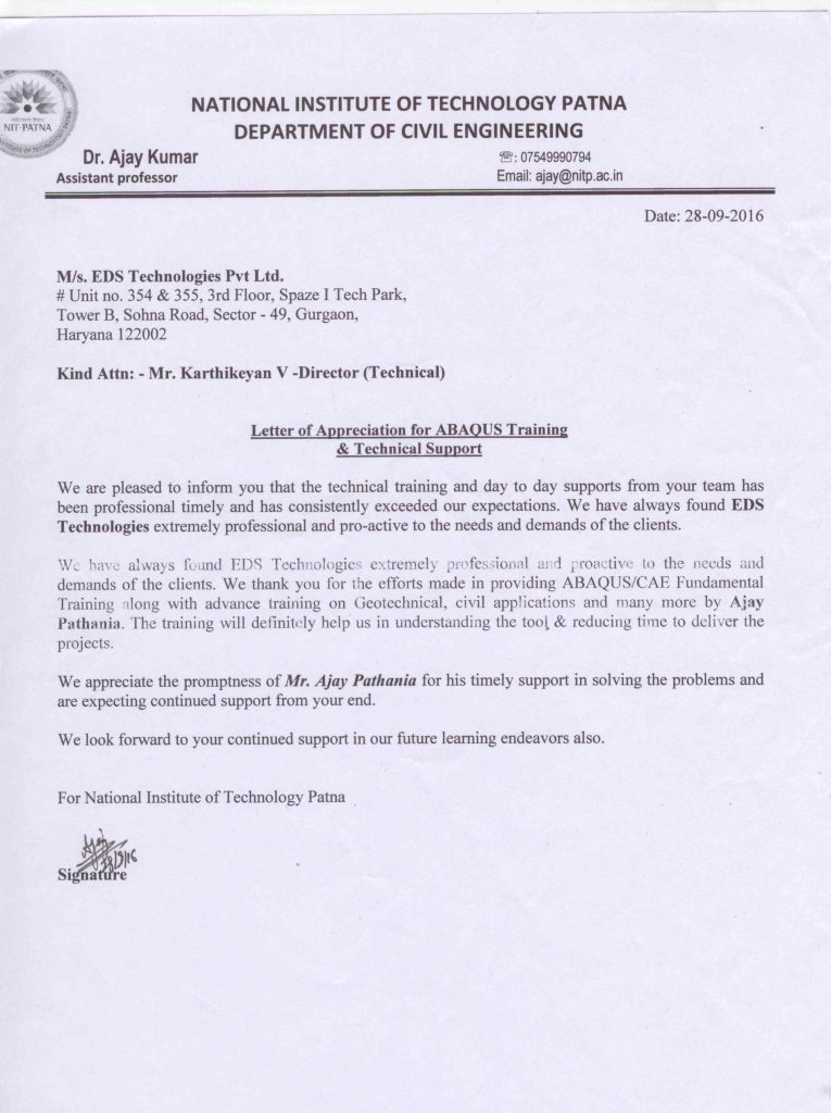 Appreciation letter from nitpatna eds technologies appreciation letter from nitpatna thecheapjerseys Gallery